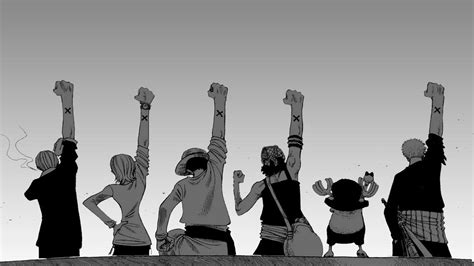 Anime, One Piece, Monochrome, Back, White Background, Arms
