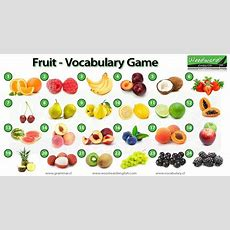 Fruit In English  English Vocabulary Game  Can You Name Each Fruit In The Photos?  Games For