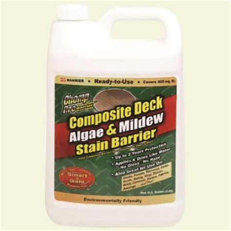 trex deck cleaner home depot chomp 128 oz composite deck algae and mildew stain