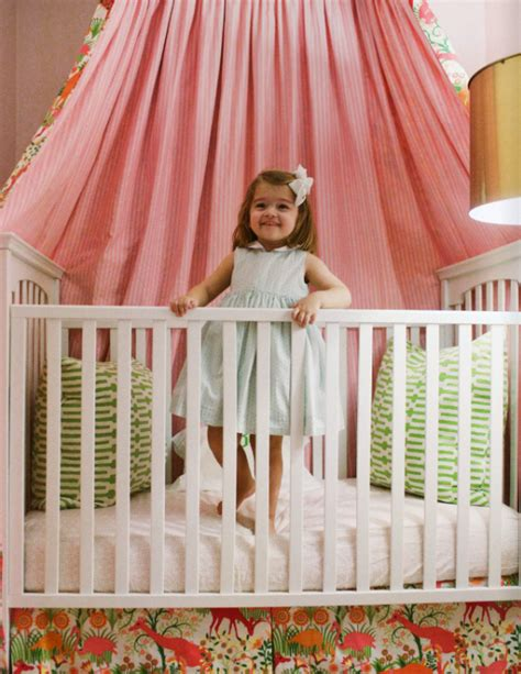 ls for nursery baby s crib with canopy simplified bee