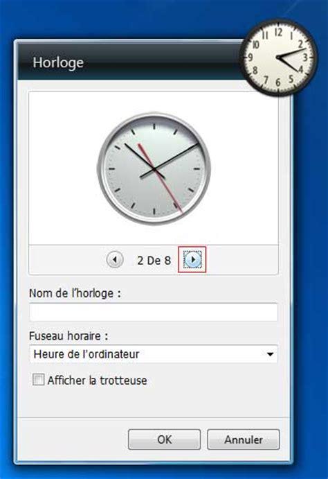 horloge de bureau windows comment afficher l heure sur windows 7