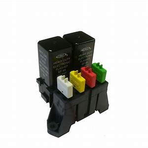 Atc 4 Way Fuse With Dual Relay Panel Block Holder With