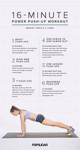Push-Up Circuit Workout Poster | POPSUGAR Fitness