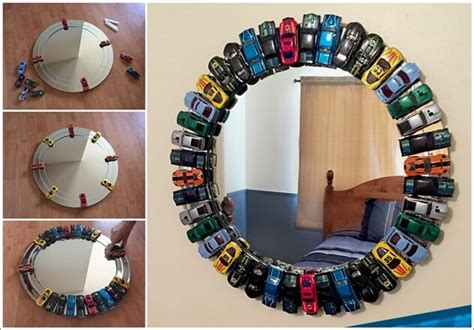This Toy Car Mirror Is A Must Try Project For Kids' Room