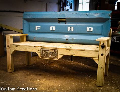 truck tailgate bench benches made from truck tailgates reclaimed lumber is