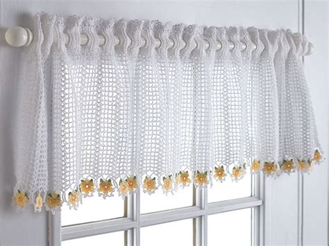 kitchen curtains on pinterest valances crochet kitchen
