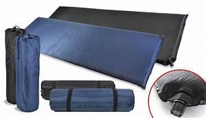 Selbstaufblasbare Isomatte 10 Cm : luftmatratze thermo isomatte selbstaufblasend blau schwarz ~ Jslefanu.com Haus und Dekorationen