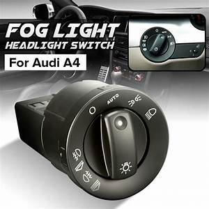 New Front Rear Fog Light Headlight Switch For Audi A4 8e