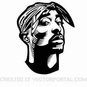 RAPPER TUPAC SHAKUR VECTOR GRAPHICS Download at Vectorportal