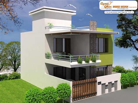 Simple Modern Duplex House Design