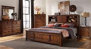 Wolf, Creek, Bookcase, Bedroom, Set, Intercon, Furniture