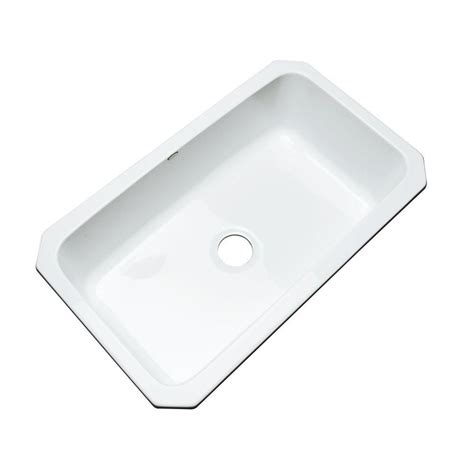 white undermount single bowl kitchen sink thermocast manhattan undermount acrylic 33 in single bowl 2117