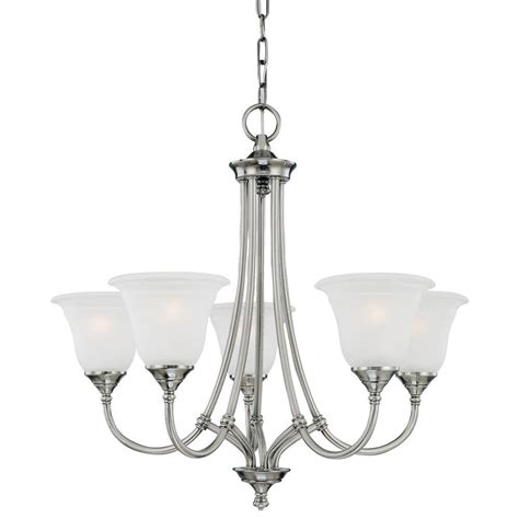 Pewter Chandelier by Lighting Harmony 5 Light Satin Pewter Chandelier