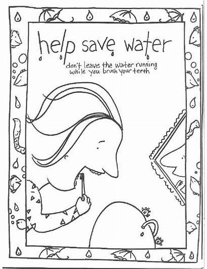 Water Coloring Save Pages Saving Conservation Help
