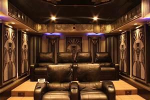 New york art deco home theater design for Art deco cinema interior