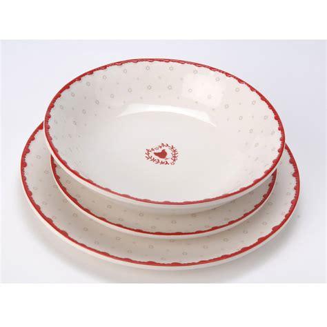decoration poule pour cuisine assiette plate en dolomie blanc motifs poule et cœur d