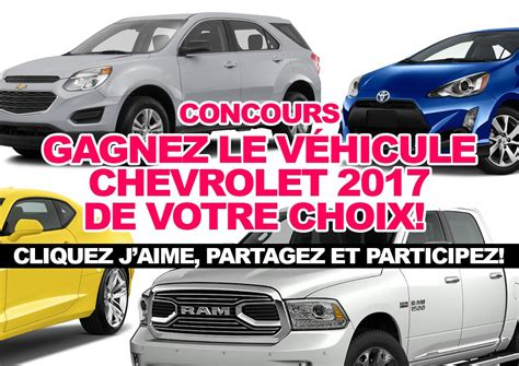 Chevrolet Contest Enter For A Chance To Win A 2017