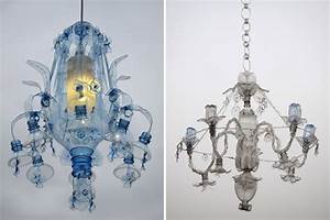 Chandeliers Constructed From Recycled Plastic Pet Bottles