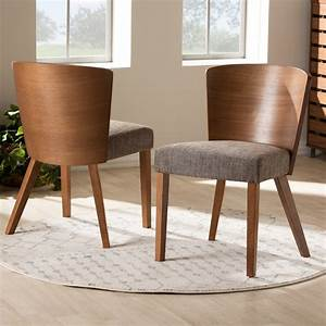 Baxton, Studio, Sparrow, Brown, Wood, Modern, Dining, Chair, Set, Of, 2