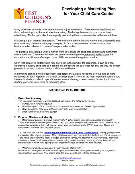 the management center program plan template writing a business plan for a daycare center