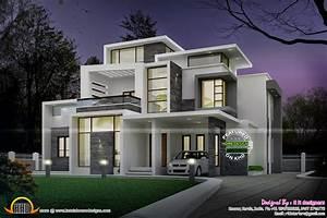 Grand, Contemporary, Home, Design, -, Kerala, Home, Design, And, Floor, Plans