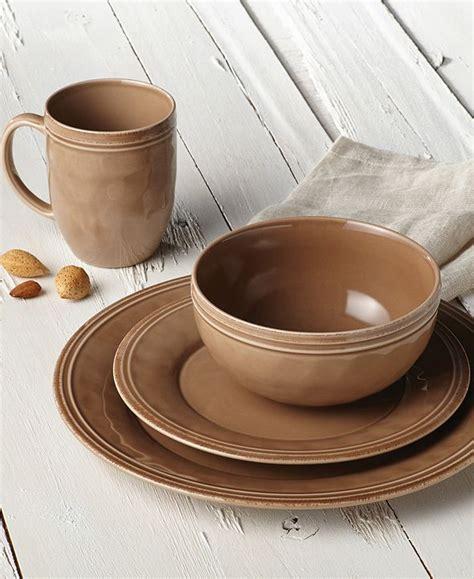rachael ray cucina mushroom brown  pc set service   reviews dinnerware dining macys