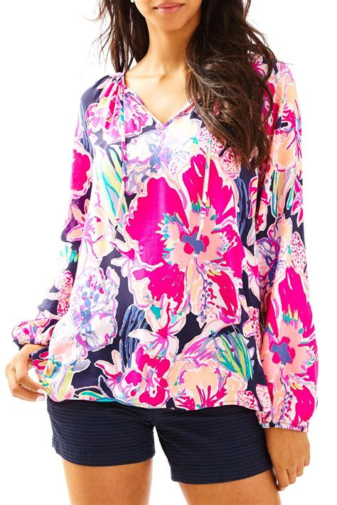 lilly pulitzer blouse lilly pulitzer willa tunic top from sandestin golf and