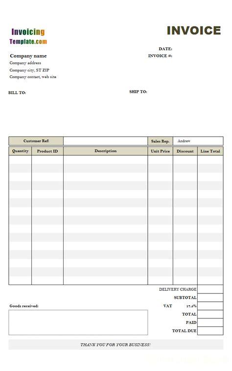 hourly service billing sample