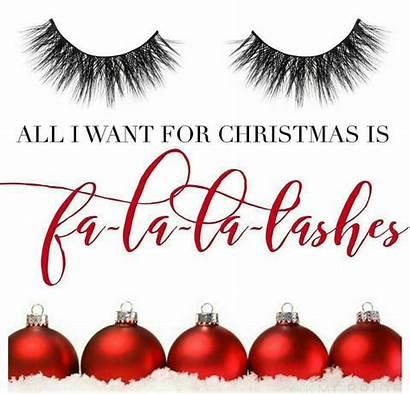 Lash Lashes Extensions Christmas Eyelash Quotes Holiday