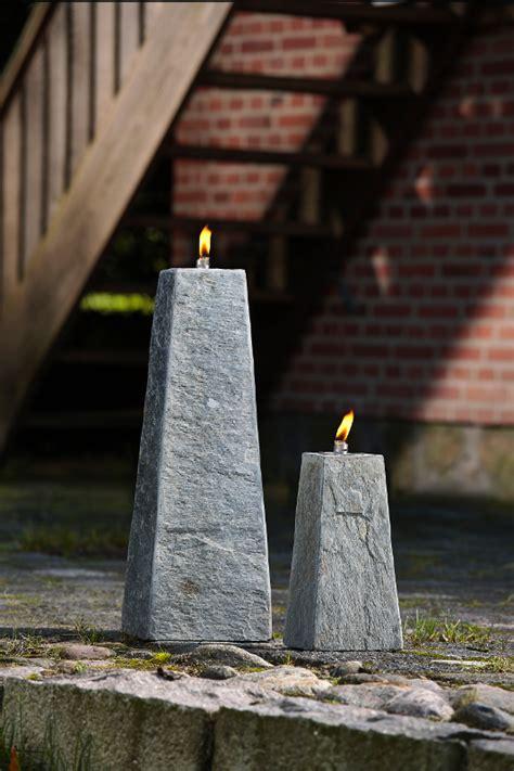 Design Garten Öllampe Chicago 30cm Schiefer Grau Dunord