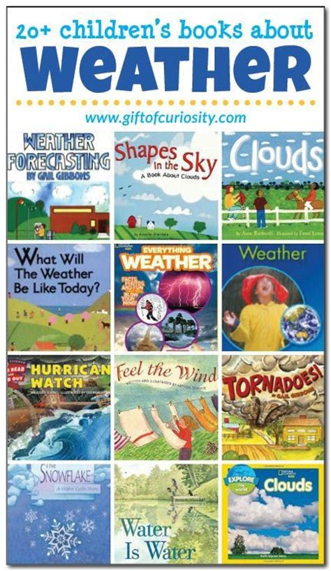 20 books about the weather for weather unit kid 828 | 88a1c0a214d86f6a77d1eafca5026ad3