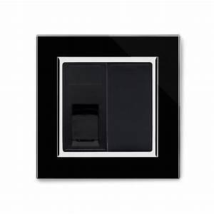 Crystal Ct Single Cat6e Socket Black