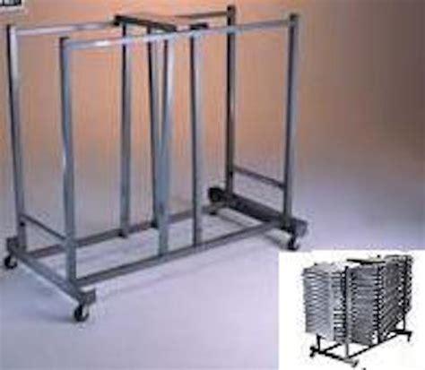 new lifetime 6525 folding chair wheel storage rack cart