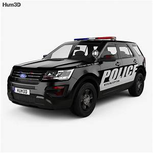 Ford Explorer Police Interceptor Utility 2016 3d Model