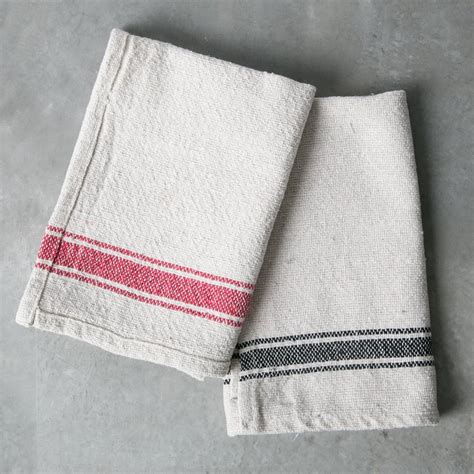 Kitchen Towels by Striped Cotton Kitchen Towel Magnolia Chip Joanna Gaines