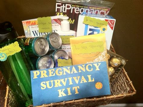 Go beyond typical baby shower presents with truly unique gifts for new parents: Pregnancy survival kit for expecting mother. Great gift ...