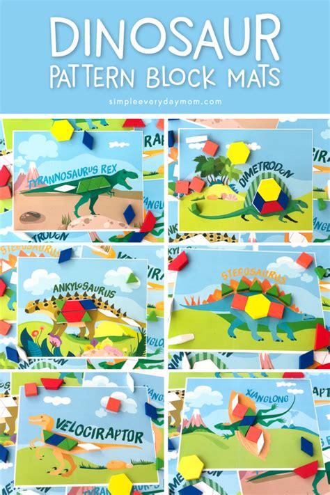 Dinosaur Pattern Block Mats