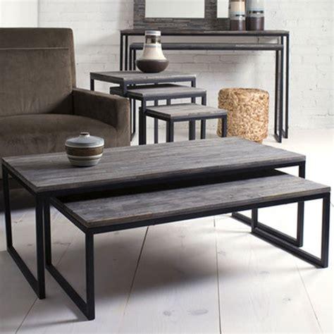 shiraleah rubberwood nesting coffee tables set