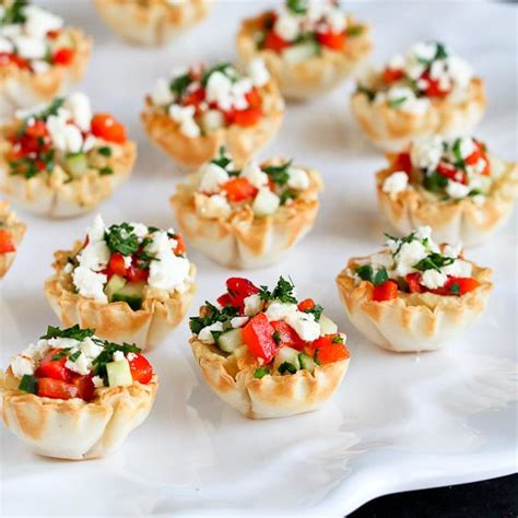 hummus roasted pepper phyllo bites recipe cookin canuck