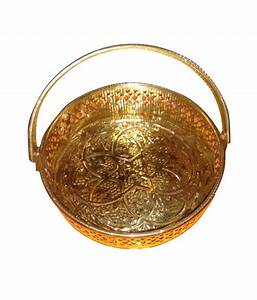 Brass Basket For Pooja Items Small: Buy Brass Basket For