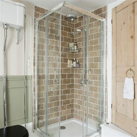 shower cubicle with travertine tiles be in inspired by