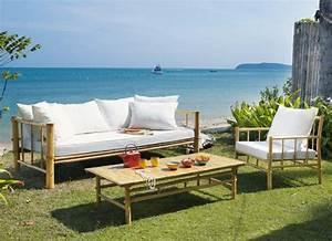 Canapé En Bambou : 31 id es d co de mobilier de salon de jardin ~ Melissatoandfro.com Idées de Décoration
