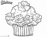 Pinkalicious Coloring Pages Cupcake Printable Flowers sketch template