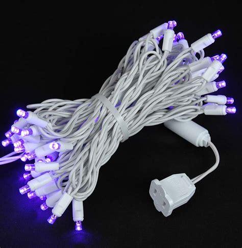 white wire wide angle purple 50 bulb led christmas lights sets