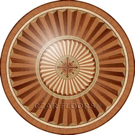Wood Medallions, Model: R101   Custom Wood, Stone Flooring