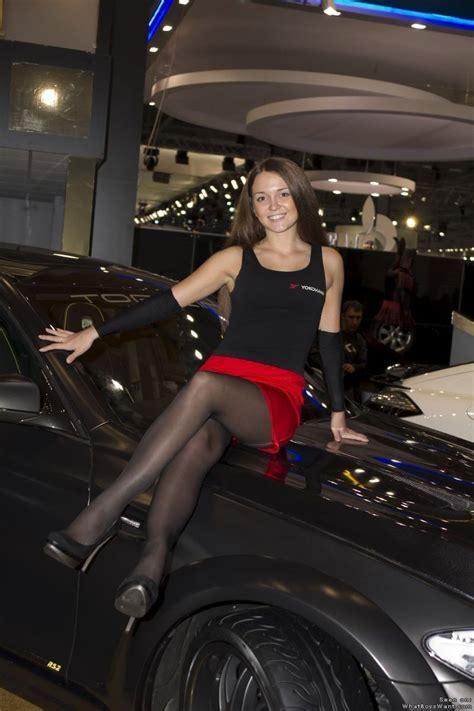 candid legs  twitter motor show hostess wearing black