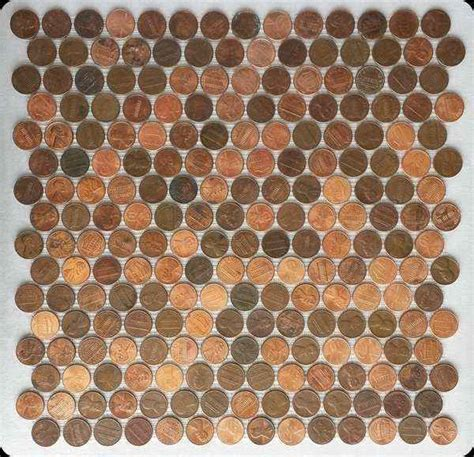 order penny tile sheets  real pennies  mesh