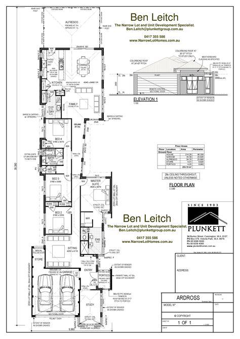 narrow lot floor plans narrow lot house plans single storey narrow lot homes