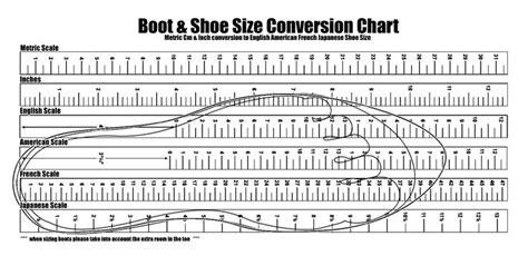shoe size chart printable boot shoe size conversion