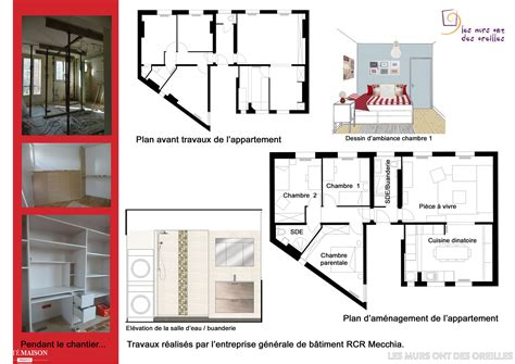 plans d appartement avant et apr 232 s plans plan appartement projet et plans